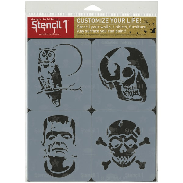 Stencil1 Set 4/Pkg Halloween Theme