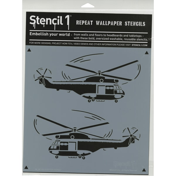 Stencil1 11inX11in Stencil Helicopters