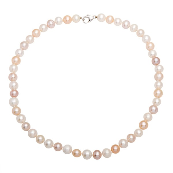 EFFY Final Call Sterling Silver Multicolor Fresh Water Pearl 18-inch Necklace with Bonus designer zipper pouch