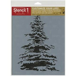 Stencil1 8.5inX11in Stencil Snowy Pine