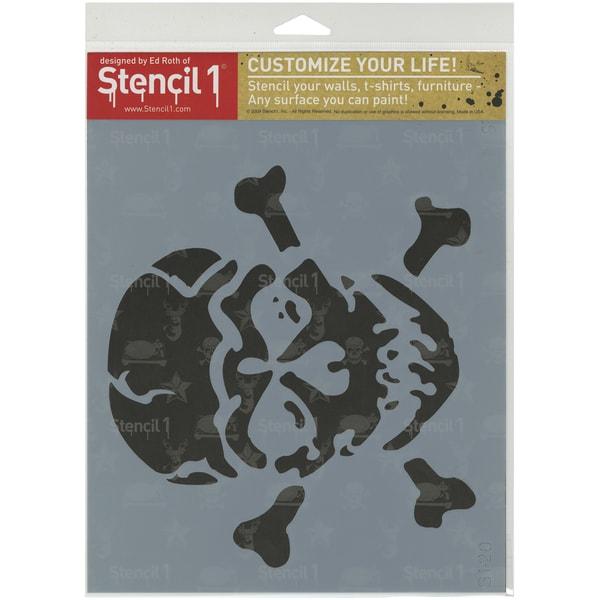 Stencil1 8.5inX11in Stencil Jolly Roger