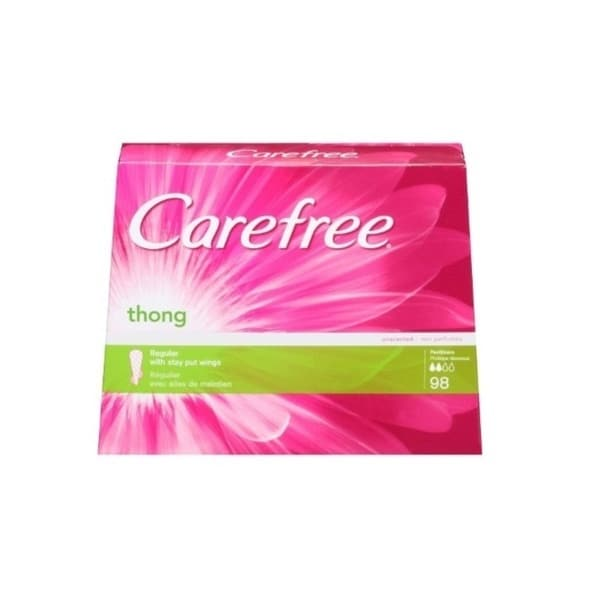 Carefree Regular Unscented Thong Pantiliners (98 Count)