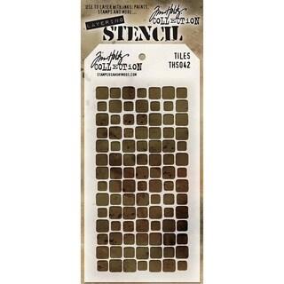 Tim Holtz Layered Stencil 4.125inX8.5in Tiles