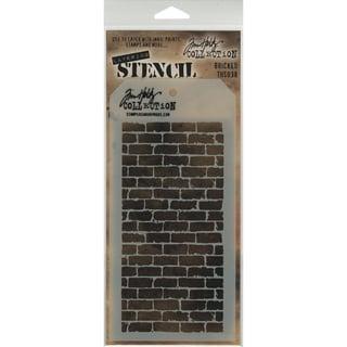 Tim Holtz Layered Stencil 4.125inX8.5in Bricked