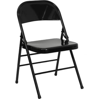 Orchid Black folding chairs