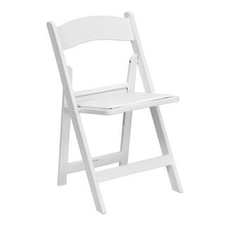 Bergamot White Resin folding chairs