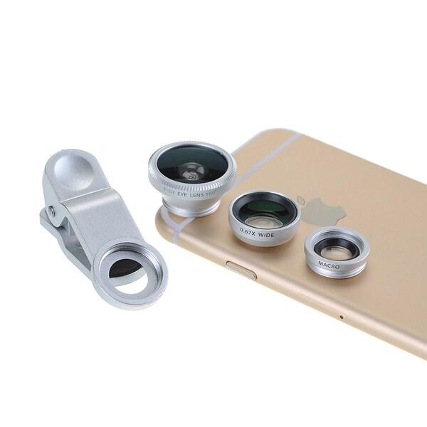 Patuoxun Clip-on 3-in-1 180-dgree Fisheye/ Wide Angle/ Micro Camera Lens Kit