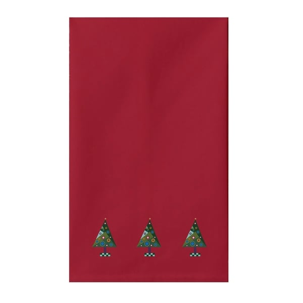 Holiday Print Blue/ Red/ Green/ Purple Tea Towel