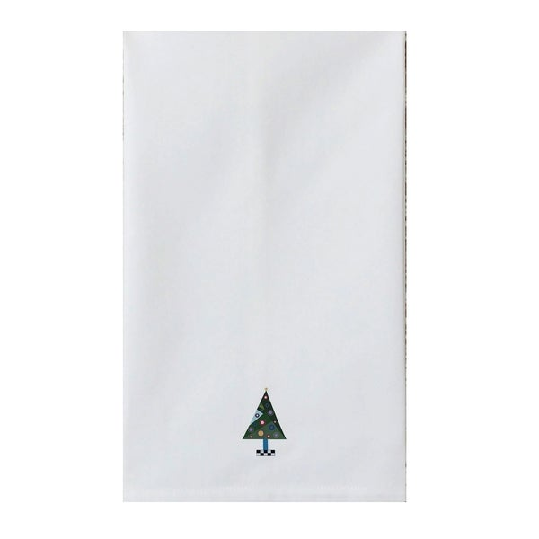 Holiday White Tea Towel