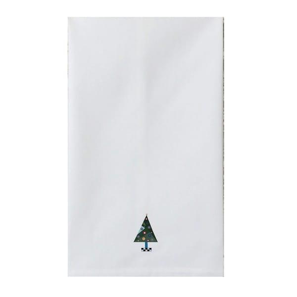 Holiday White Tea Towel