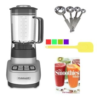 Cuisinart SPB-650 1HP Blender Bundle with Spatula, Measuring Spoons and Smoothies Bible