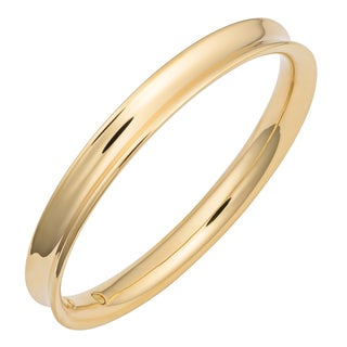 Oro Forte 14k Yellow Gold High Polish Concave Slip-on Bangle