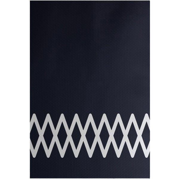 Lace Up Geometric Print Blue/ Grey/ Green/ Yellow 3-feet x 5-feet Outdoor Decorative Rug