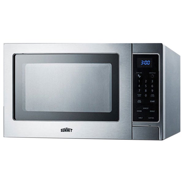 Summit 0.9 cu. ft. Countertop Microwave Oven Stainless Steel