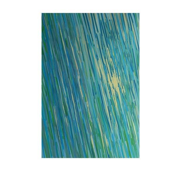 Coastal Print Green/ Yellow/ Orange/ Brown 2-feet x 3-feet Outdoor Decorative Rug