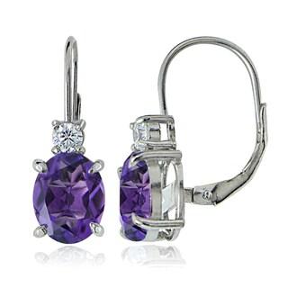 Glitzy Rocks Sterling Silver Gemstone Dangle Earrings