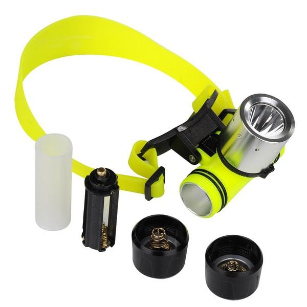 Patuoxun Waterproof 1800-lumen T6 LED Diving Headlamp Light