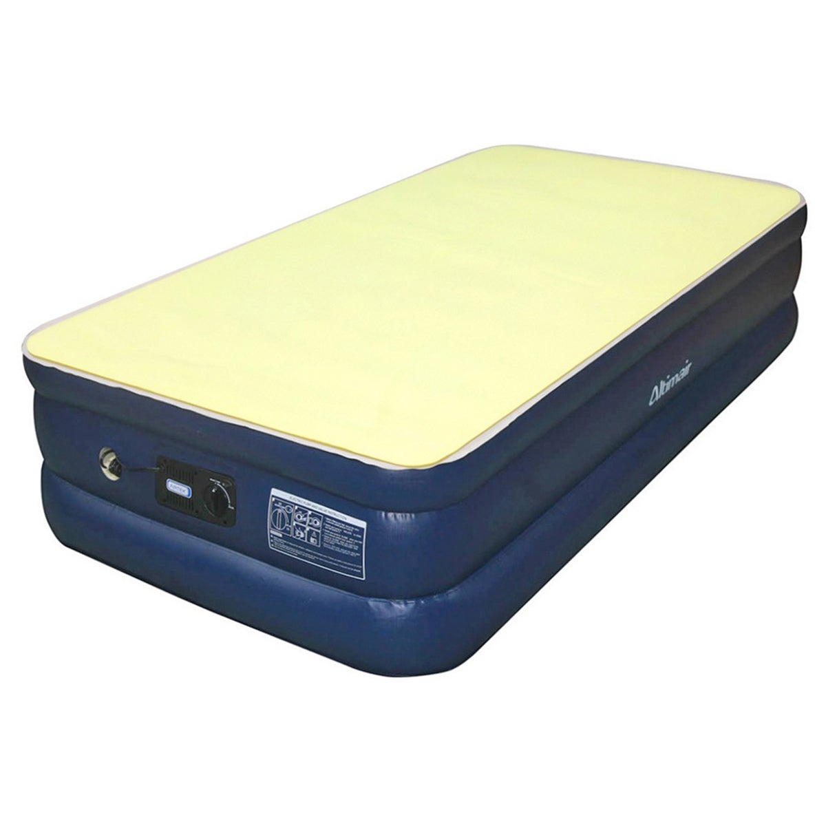 Airtek Twin Size Flocked Top Air Mattress With Memory Foam Mattress Topper Overstock Shopping