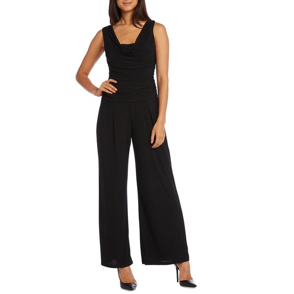 R&M Richards Ruched Panel Jumpsuit