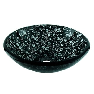 Fontaine Black Chantilly Glass Vessel Sink