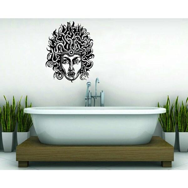 Medusa Gorgon Head with Snake Hair Vinyl Sticker Wall Art