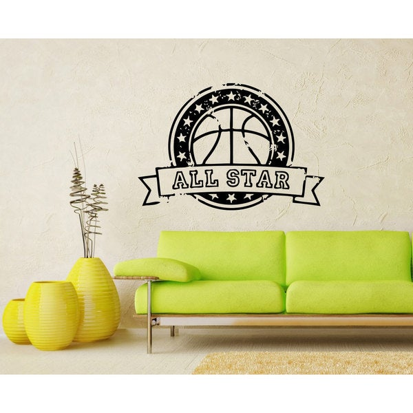 Basketball All Star Vinyl Sticker Wall Art