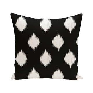 Ikat Dot Geometric Print Blue/ Black/ Orange/ Brown 28-inch x 28-inch Decorative Indoor Floor Pillow