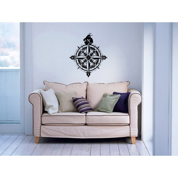 Compass Nautical Vinyl Sticker Wall Art 15655240