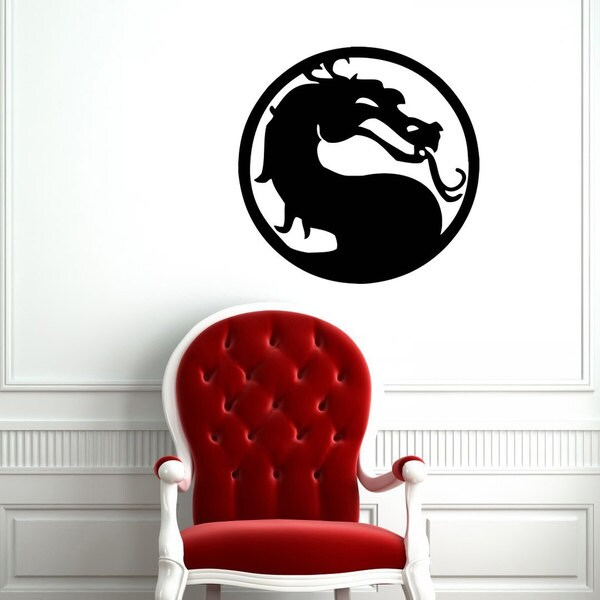 Mortal Combat Dragon Vinyl Sticker Wall Art