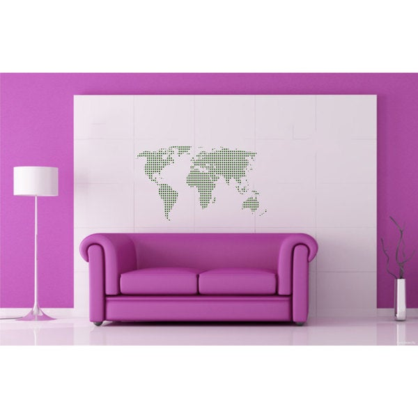 World Map Vinyl Sticker Wall Art