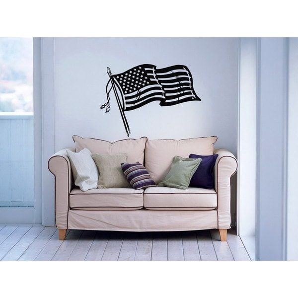 American Flag US USA Flag Vinyl Sticker Wall Art 15655309