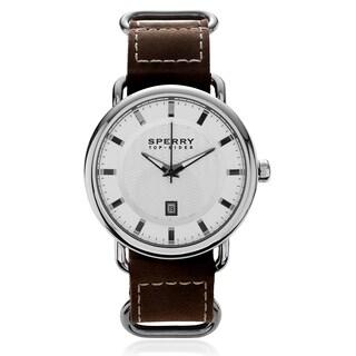Sperry Men's 'Striper' Leather Strap Watch