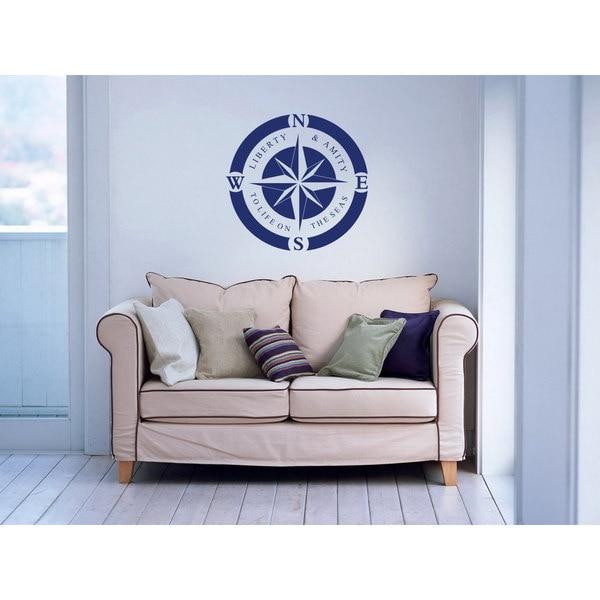 Nautical Compass Rose Vinyl Sticker Wall Art 15655402