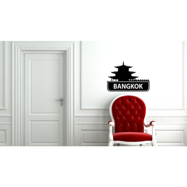 Bangkok Sights Cities Of The World Vinyl Sticker Wall Art