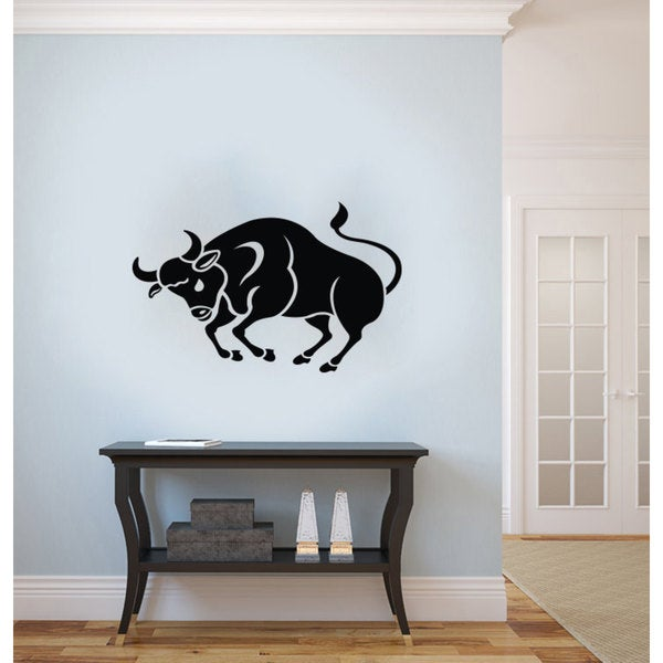 Taurus Horoscope Star Sign Zodiac Vinyl Sticker Wall Art
