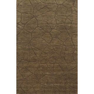 Hand-carved Technique Collection Wool Accent Rug (9' x 12')