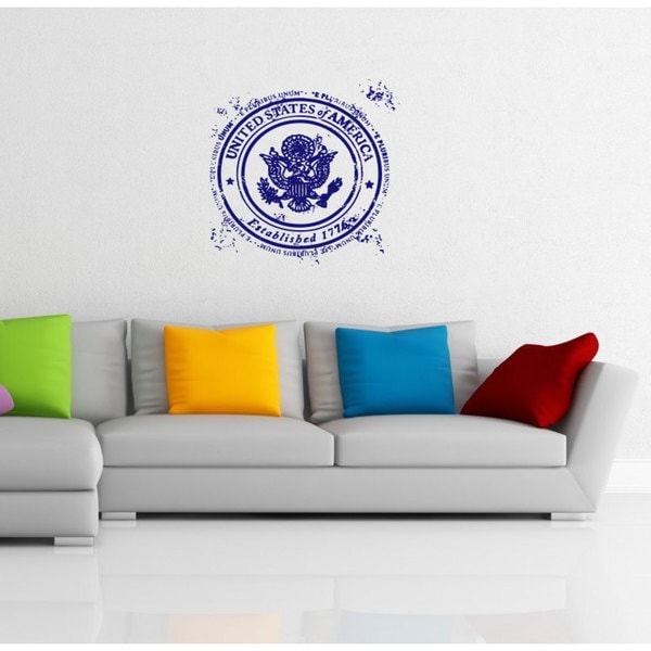 United States Post Stamp Vinyl Sticker Wall Art