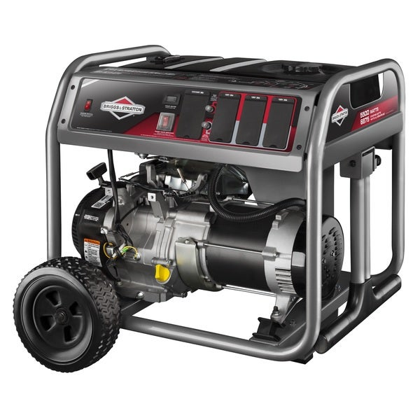 Briggs and Stratton 5500 Watt Gas Powered Portable Generator with 6 Household Outlets