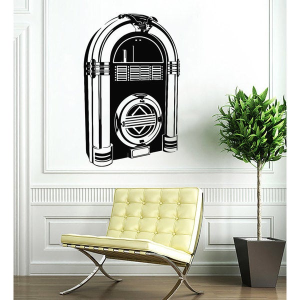 Juke Box Vinyl Sticker Wall Art