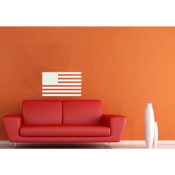 US Flag USA American Flag Vinyl Sticker Wall Art