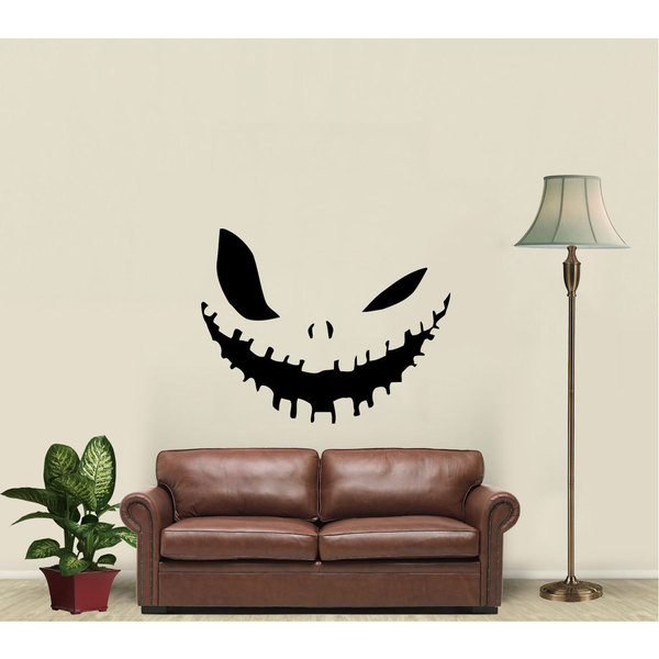 Pumpkin Jack Smile Vinyl Sticker Wall Art