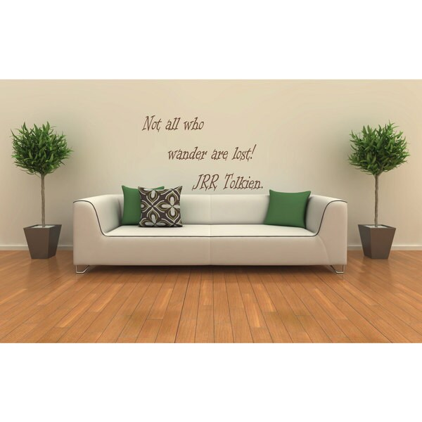 Not All Who Wander Are Lost JRR Tolkien Quote Vinyl Sticker Wall Art