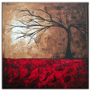 Megan Duncanson 'Lost in the Forest' Colorful Modern Landscape Painting Giclée on Metal