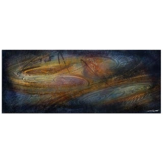Nicholas Yust 'Northern Lights' Modern Abstract Painting Giclée on Metal