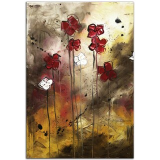 Megan Duncanson 'Floral Arrangement' Contemporary Landscape Painting Giclée on Metal