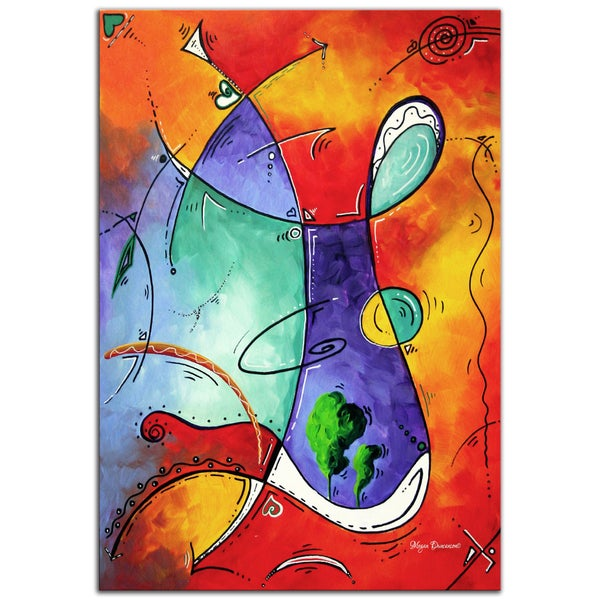 Megan Duncanson 'Free at Last' Modern Abstract Painting Gicle on Metal