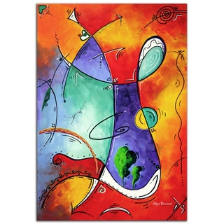 Megan Duncanson 'Free at Last' Modern Abstract Painting Giclée on Metal