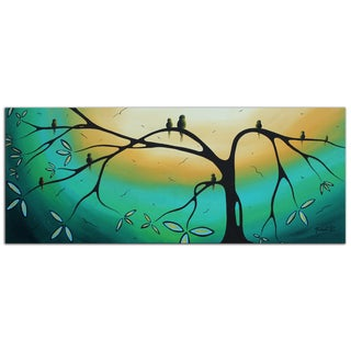 Megan Duncanson 'Family Perch' Modern Landscape Painting Giclée on Metal