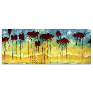 Megan Duncanson 'On the Pond' Modern Landscape Painting Giclée on Metal