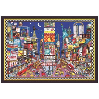 Roxy 'New York' Colorful and Playful Modern Cityscape Painting Giclée on Metal